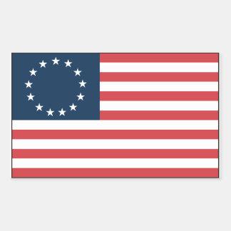 Betsy Ross Pegatina Rectangular