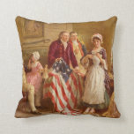 Betsy Ross Sewing the American Flag Pillow