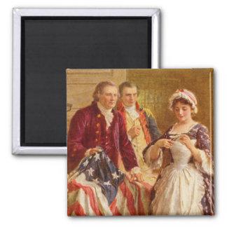 Betsy Ross Square Magnet