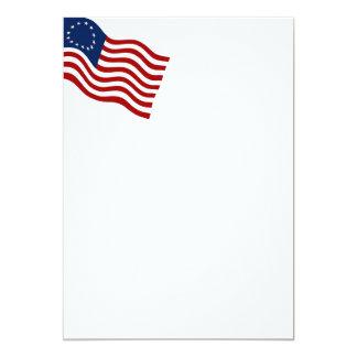 Betsy Ross Waving Flag Invitation