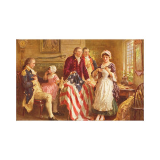 Betsy Ross Wrapped Canvas Print