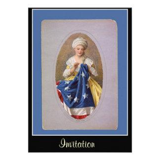Betsy Ross y la invitación de la bandera