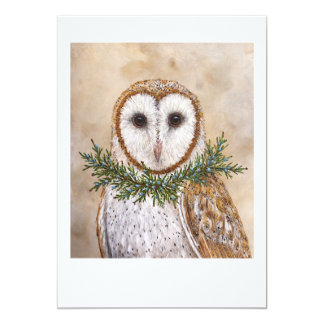 Betsy the barn owl flat card