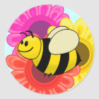 Betsy the Buzzy Bumble Bee Cartoon Classic Round Sticker