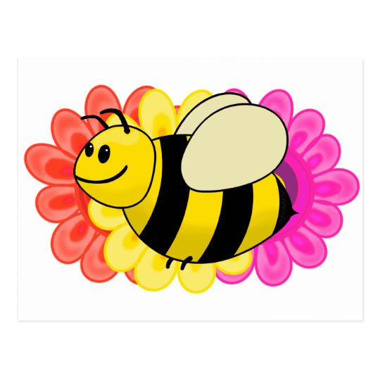 Betsy the Buzzy Bumble Bee Cartoon Postcard