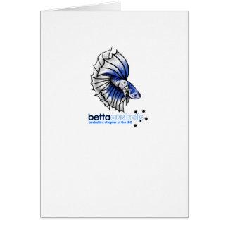 Betta australis tarjeta de felicitación