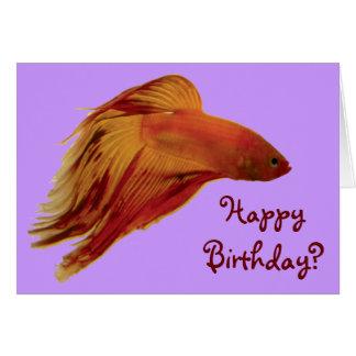 Betta - Birthday Card