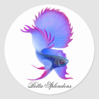 Betta Fighting Fish Sticker