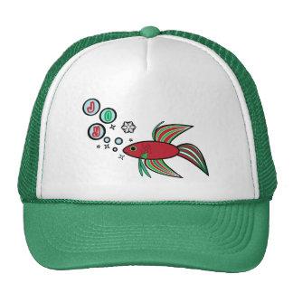 Betta Fish at Christmas Trucker Hat