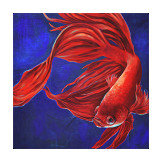 Betta Fish Painting Canvas Print