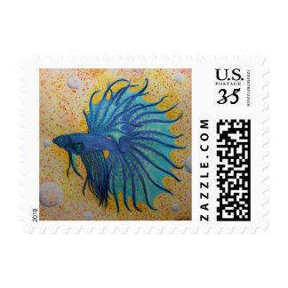 betta fish postage stamps (s)