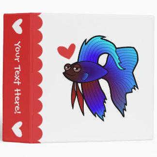 Betta Fish / Siamese Fighting Fish Love 3 Ring Binder