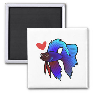 Betta Fish / Siamese Fighting Fish Love Magnet