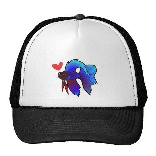 Betta Fish / Siamese Fighting Fish Love Mesh Hat