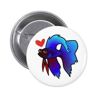 Betta Fish / Siamese Fighting Fish Love Pinback Button