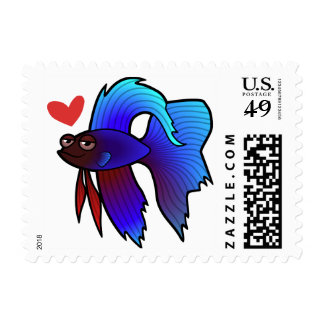 Betta Fish / Siamese Fighting Fish Love Postage