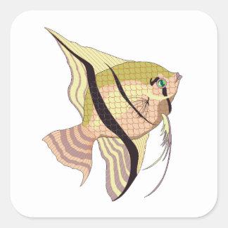 Betta Fish Square Stickers