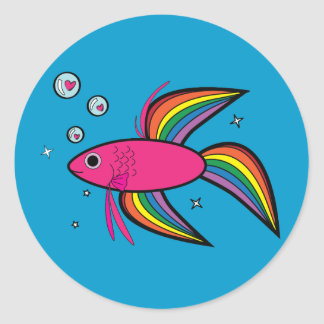 Betta Fish Round Sticker