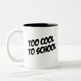Betta Fish; Too Cool to School Two-Tone Coffee Mug