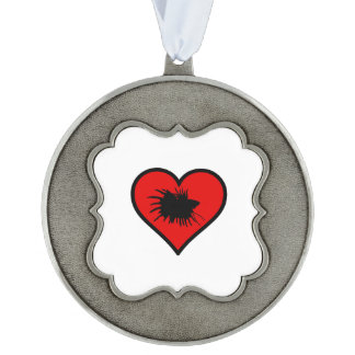 Betta Heart Love Fish Silhouette Ornament