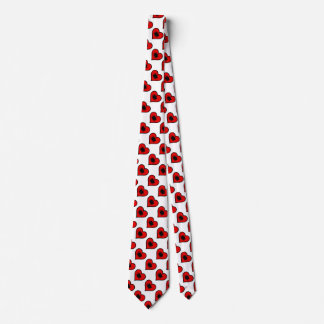 Betta Heart Love Fish Silhouette Tie