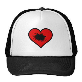 Betta Heart Love Fish Silhouette Trucker Hat