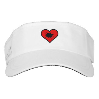 Betta Heart Love Fish Silhouette Visor