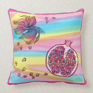 Betta & Koehne betta and za ku ro Throw Pillow