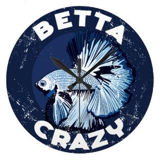 Betta loco - reloj de pared práctico