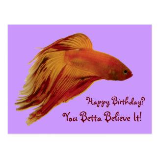 Betta - postal del cumpleaños