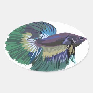 Betta Siamese Fighting Fish Stickers