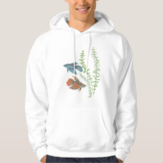 Betta splendens and Rotala indica White Hoodie