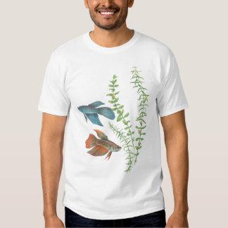 Betta splendens and Rotala indica White T-Shirt