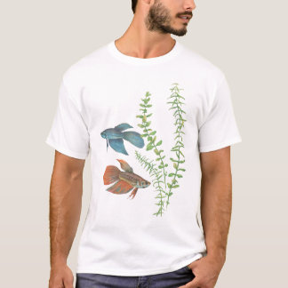 Betta splendens and Rotala indica White T-Shirt