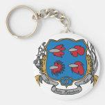 Betta Splendens Coat of Arms Keychain