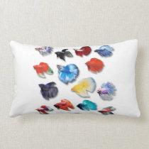 Betta splendens lumbar pillow