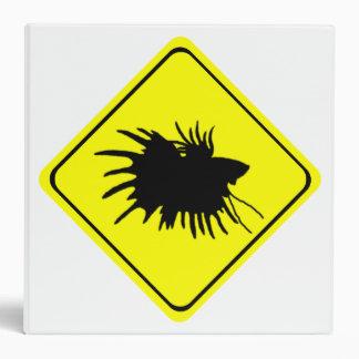 Betta Warning Sign Love Siamese Fighting Fish 3 Ring Binder