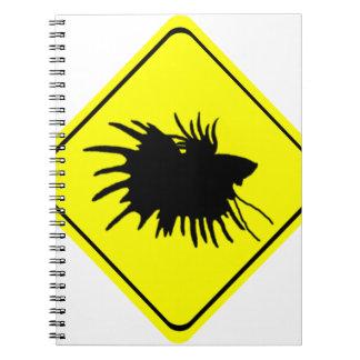 Betta Warning Sign Love Siamese Fighting Fish Notebook