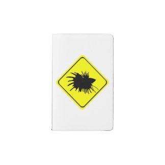 Betta Warning Sign Love Siamese Fighting Fish Pocket Moleskine Notebook