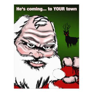 Betta Watch Out: Santa Claus Poster Flyer