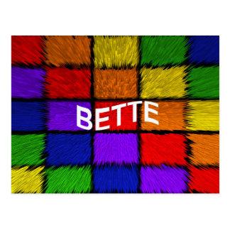 BETTE POSTCARD