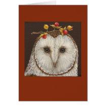 Bette the barn owl card