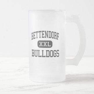 Bettendorf - Bulldogs - High - Bettendorf Iowa Frosted Glass Beer Mug