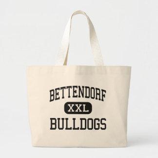 Bettendorf - dogos - alto - Bettendorf Iowa Bolsa Lienzo