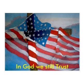 Better America Cross Flag Postcard