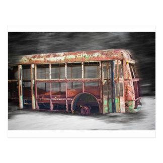 Better Days School Bus in Motion Postcard