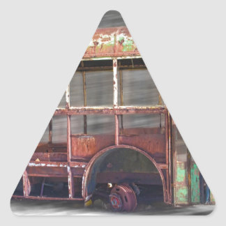 Better Days School Bus in Motion Triangle Sticker