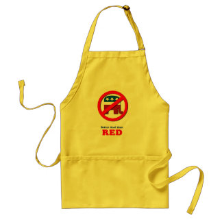 Better dead than Red Adult Apron