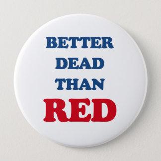 Better dead than red pinback button