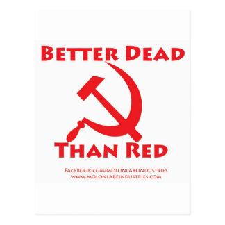 Better Dead Than Red Postcard